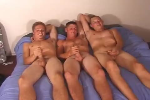 Three young boyz Rubbing Their ramrods On The sofa