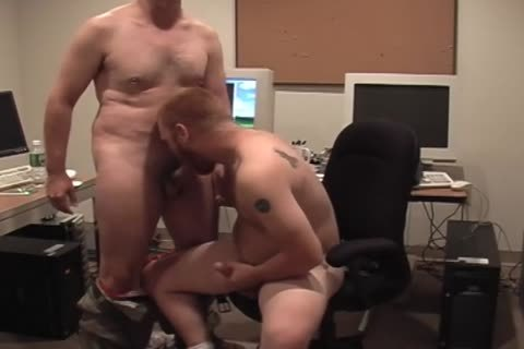 Two lustful Hunks acquire in nature's garb In The Office And plough wazoo