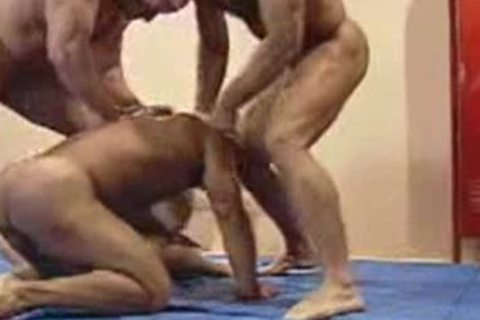 Wrestlers orgy  complete clip