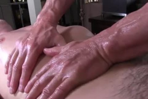 GayRoom daddy masseur rubs and probes massive ramrod youngster - painfully sex movie - Tube8.com