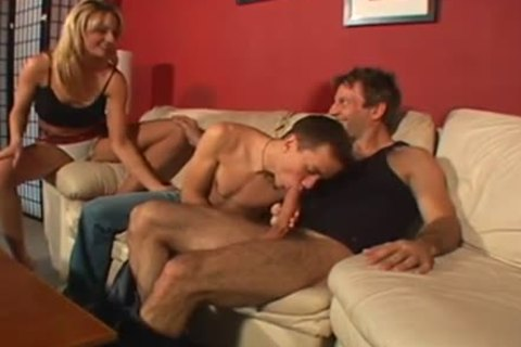 moist ambisexual Male+Male+Female on The bed