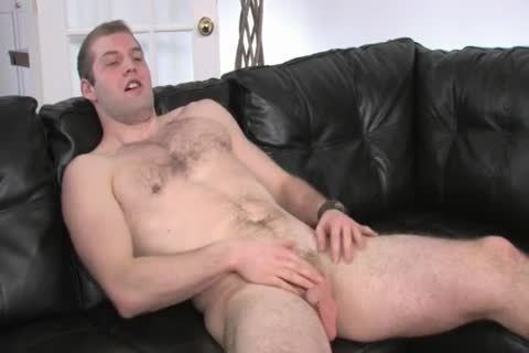 hirsute Chested man Beating his 10-Pounder