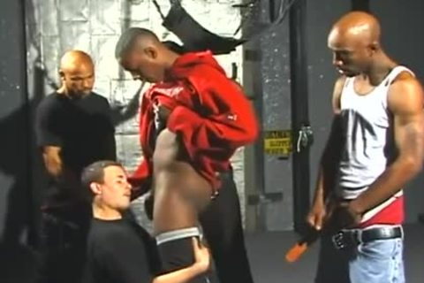 tasty White dudes Opens Wide For Interracial Gangbanging joy