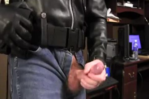 Border Patrol Jerks In Leather Jacket And sleazy Jeans