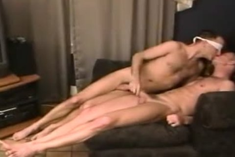 naked take up with the tongue rim engulf plough blindfolded smutty males-two