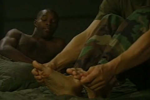 Soldier likes his comrades feet