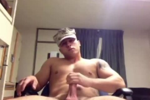 Military Marine Muscle Wanks It