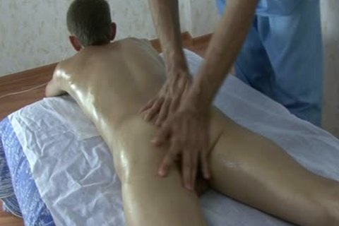 young skinny Russian Teenboy - bushy weenie - Oil Massage!