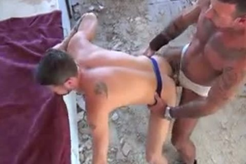 pumped up gays arsehole banging - Factory clip scene