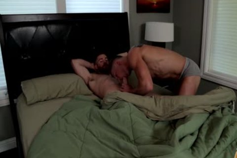 Two pumped up homo men Sodomize Each Other.