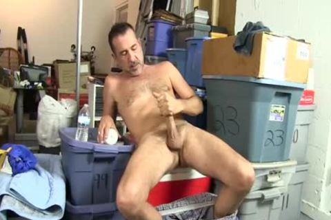excited homosexual fellow Uses A Bottle To plough Himself