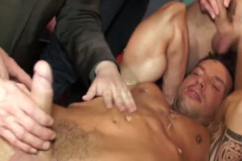 Euro Hunk Drenched In love juice During orgy