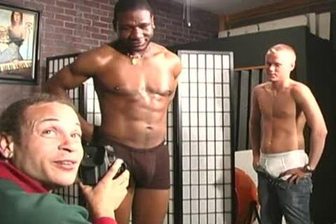 homo Interracial three-some nailing