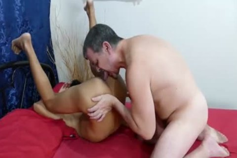 lustful Latino gets His darksome aperture Stuffed By A biggest cock