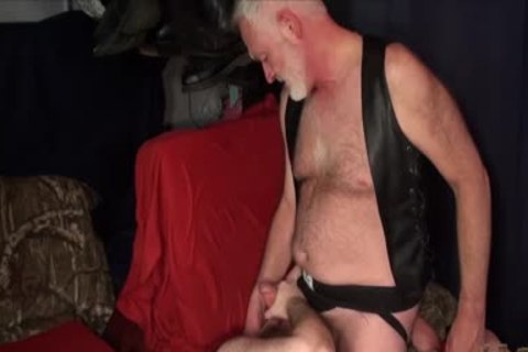 overweight Ginger groans By Daddy S bare ramrod