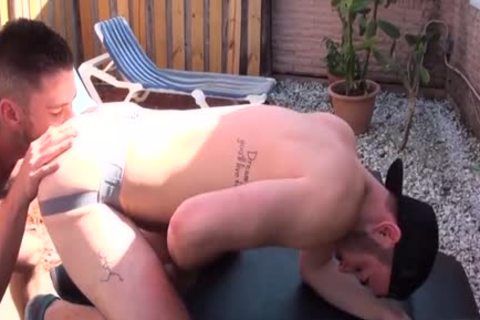 hairy Son butthole rimming And cumshot