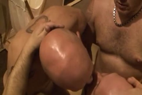 dirty homosexual threesome With cumshot