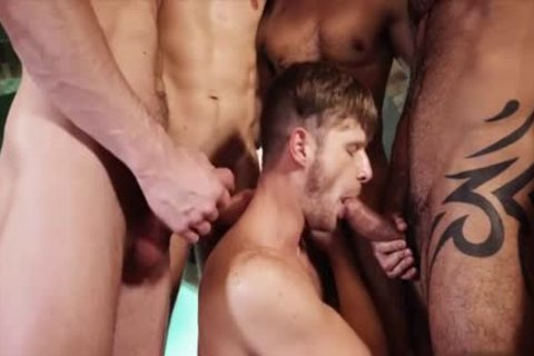 slutty gay threesome With cumshot