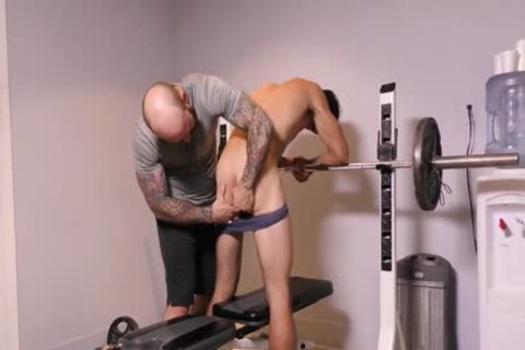 Daddy coach Helps teach His lad To Take unprotected penis