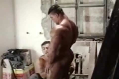 Brasil Bodybuilders big wazoo slammed By Hunk
