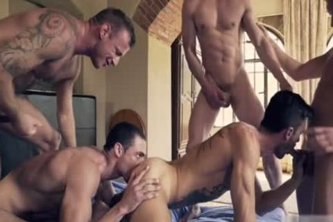 nasty gay double penetration With ejaculation