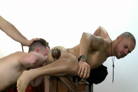 large pecker Wolf three-some With cumshot