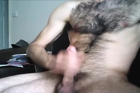 hairy Hung chap discharges A large Load