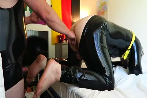 Latex Play Fisting Attempt And plowing
