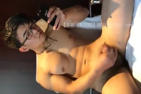 lusty asian lad disrobes Down And Jerks His shlong