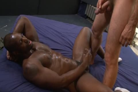 Interracial homo Sex With piss