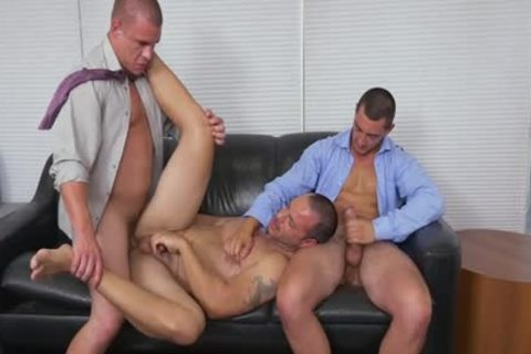 Muscle homosexual 3some And Facial