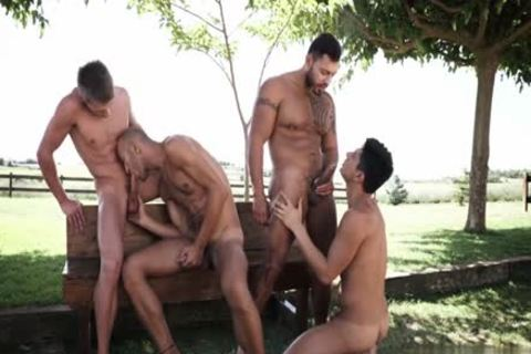 Tattoo homosexual double penetration With sperm flow