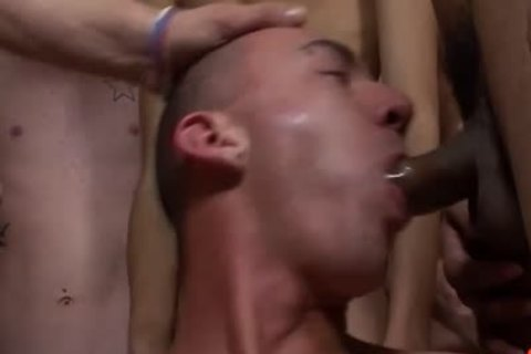 Bukkake men - Double ass unprotected For sleazy twink