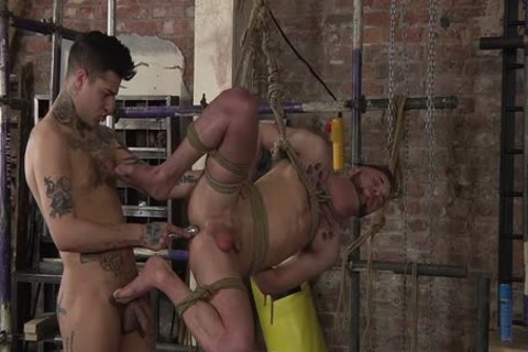 young gay Koby Lewis tied And fucked Hard By Mickey Taylor