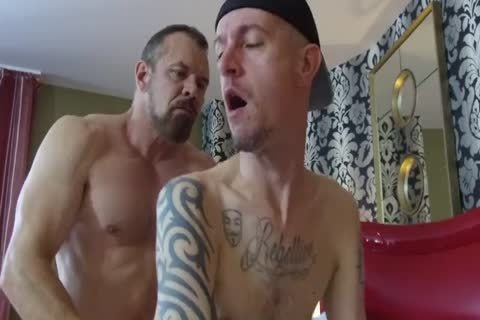 Robert Rexton get's fucked By Muscle Daddy's Max Sargent & Chance Caldwell