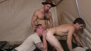 Drill The Sergeant - Damien Kyle and Tanner Tatum Hunk poke