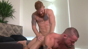 Tattooed And pounded - Bennett Anthony and Sean Duran ass dril