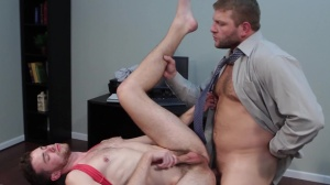 The trickle - Colby Jansen and Brandon Moore ass sex