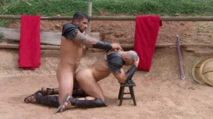 Sacred group Of Thebes - Francois Sagat & Ryan nails butthole Love