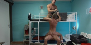 Hostel Takeover - Damon Heart and Logan Moore anal plow