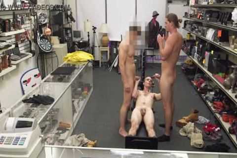 homo PAWN - Fitness Trainer receives butthole team-pounded By Two Employees