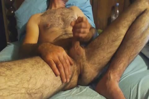 hairy older man Grabs His ramrod And Wanks