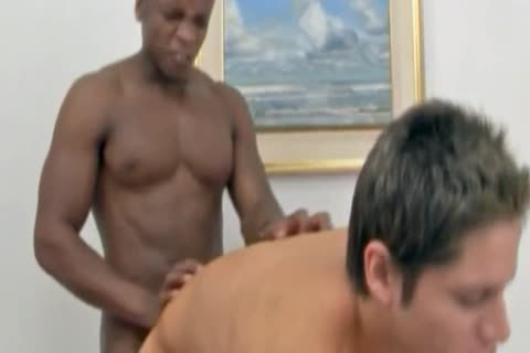 Domineering darksome Puts The knob In The butthole To young White