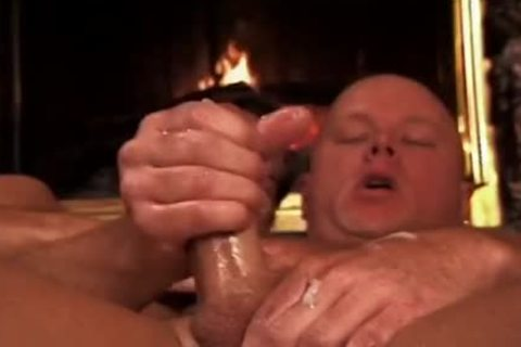 Bald boy Takes It Up The pooper By The Living Room Fire