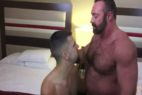 Josh Stone And gigantic Daddy Bear Brad Kalvo