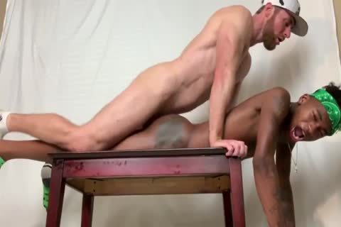 Marco Paris fucks 2 Smooth darksome twinks in nature's garb