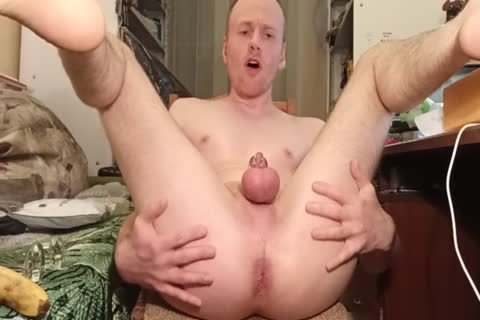 LanaTuls - butthole slamming And Stretching With Banana And sex toy