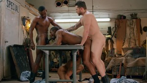 Tom Of Finland: Service Station: bare - Ricky Roman with River Wilson American Love