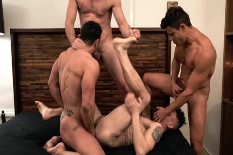 Asher Hawk Services Three Rock-Hard bare cocks
