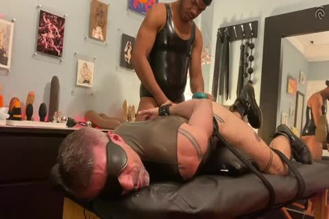 Ryan Spade & girl Russo - bound In Latex